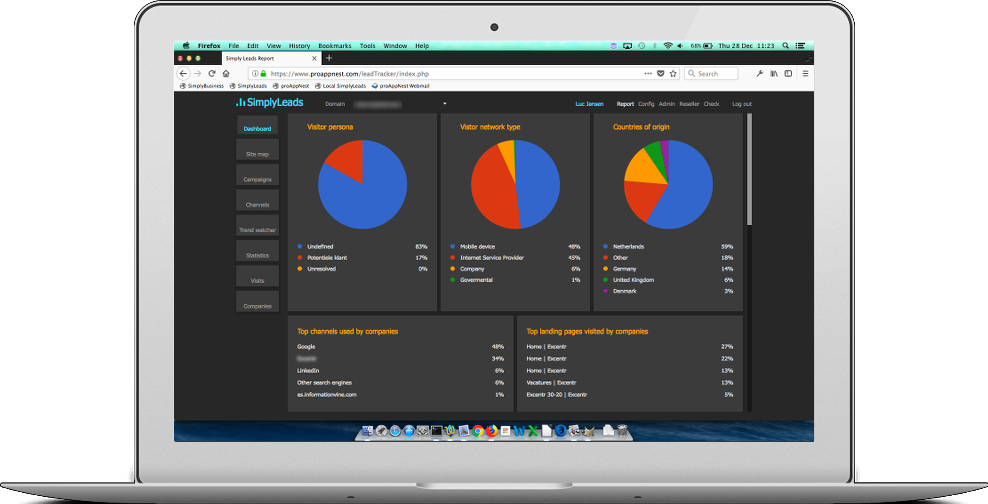 SimplyLeads Dashboard